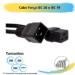 Cabo Força IEC 20 x IEC 19