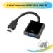Cabo Conversor HDMI (M) x VGA (F)