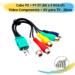 Cabo P2 + P1 ST (M) x 5 RCA (F) Vídeo Componente + AV para TV- 20cm