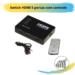 Switch HDMI 5 portas com controle