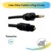 Cabo Ótico Toslink x Plug 3,5 mm