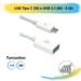 Cabo USB Tipo C (M) x USB 3.1 (F) – 5 GB