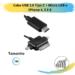 Cabo USB 2.0 Tipo C + Micro USB e IPhone 4, 5 E 6
