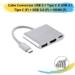 Cabo Conversor USB 3.1 Tipo C X USB 3.1 Tipo C (F) + USB 3.0 (F) + HDMI (F)