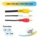 Cabo 3 RCA (M) x 3 RCA (M) Coaxial