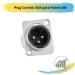 Plug Cannon XLR para Painel (M)